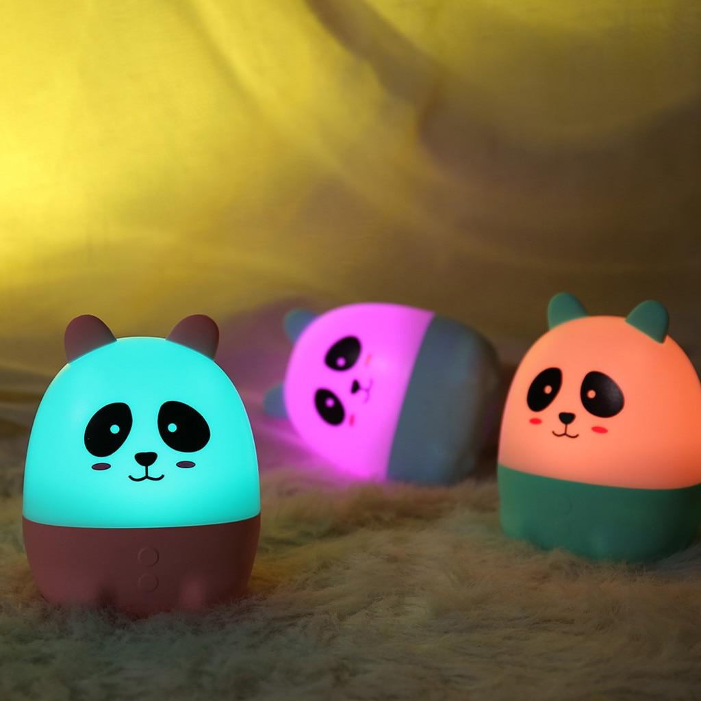 2020 Lovely Cute Panda Night Light Fragrance Lamp Bedroom Decor Mini Led Lamp Bulb Night Lamp Lamps Lampen Room Decor Светильник