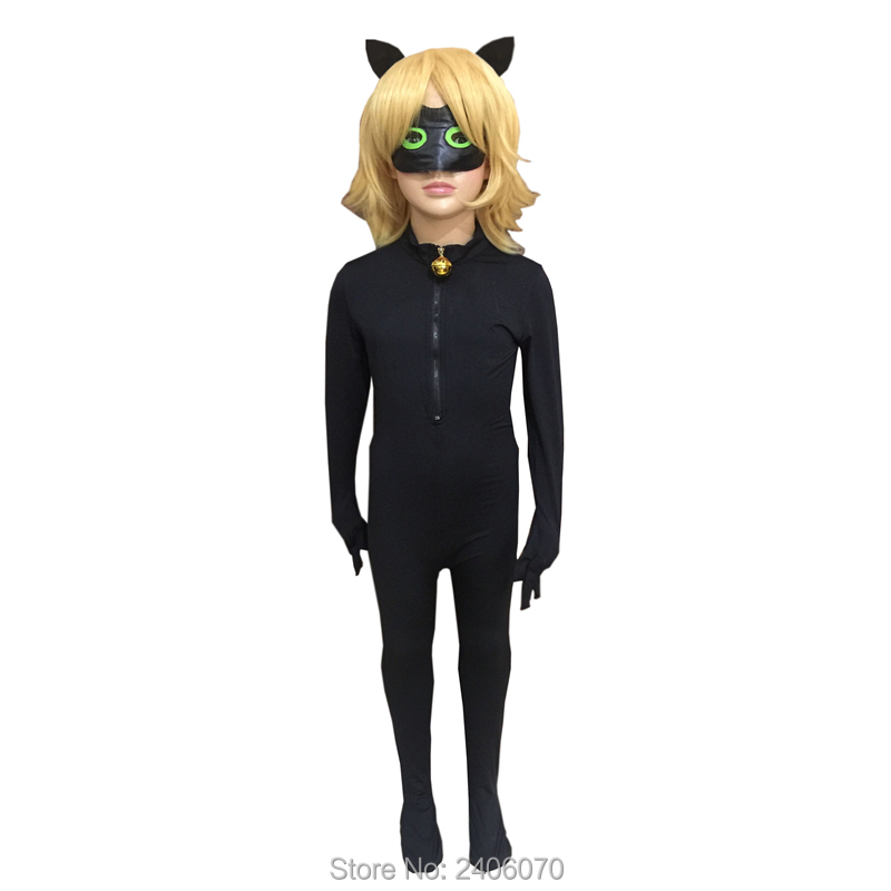 Halloween Christmas Children Clothing Sets Miraculous Ladybug Cat Noir Cosplay Costume For Boy Carnival Kids Jumpsuit