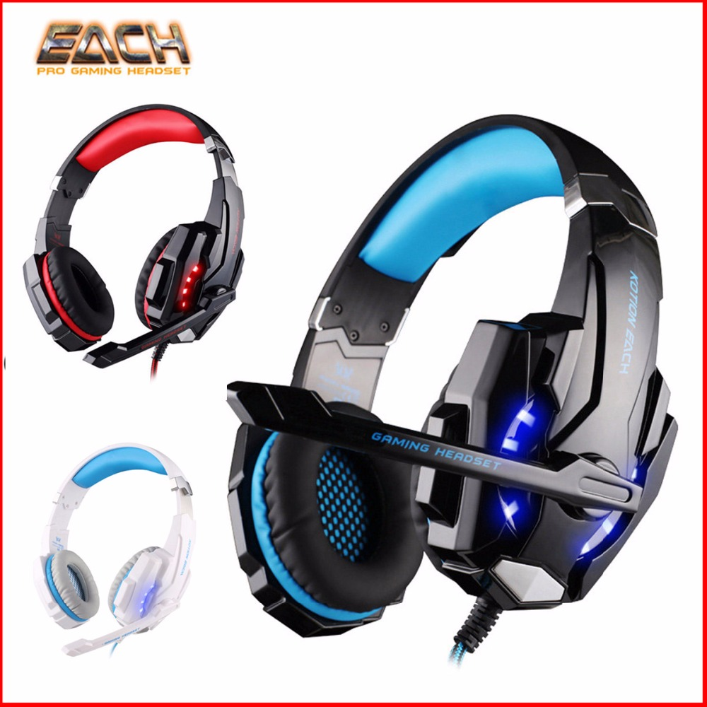 KOTION EACH G9000 Gaming Headset ps4 Computer Wired Stereo headphone Headset Gaming headphones with microphone LED for PC Gamer beexcellent gm 1 pc gaming gamer headset headphones headphone wired stereo bass with microphone led for computer pk xiaomi
