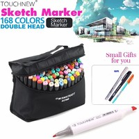 Touchfive 30 40 60 80 Colors Sketch Marker Design Artist Dual Head Alcohol Based Markers Set