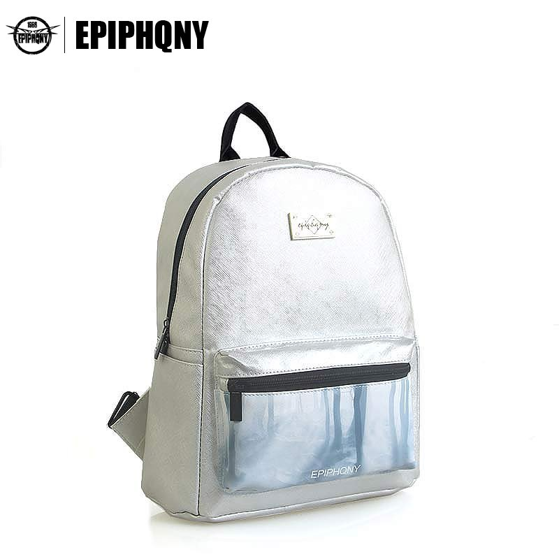 Epiphqny Famous Brand Women Printed Backpack PU Leather Backbag Girls Tree Printing Travel Bag Small