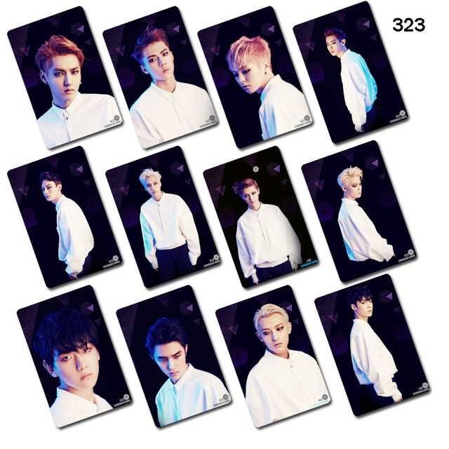 US $1 99 |[TOOL]EXO new album dark and white cards sticker around a set of  12 pcs individuals with S17100714-in Woodworking Machinery Parts from Tools