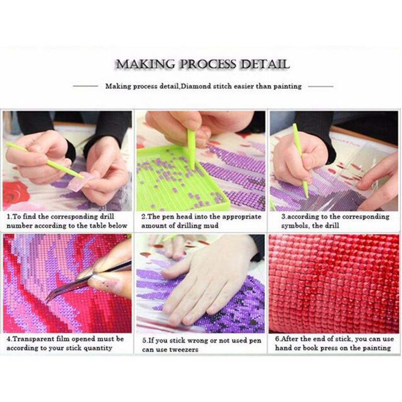 Cartoon Beauty Beast Candlestick DIY 5D Diamond Painting Fashion Full drill//3054