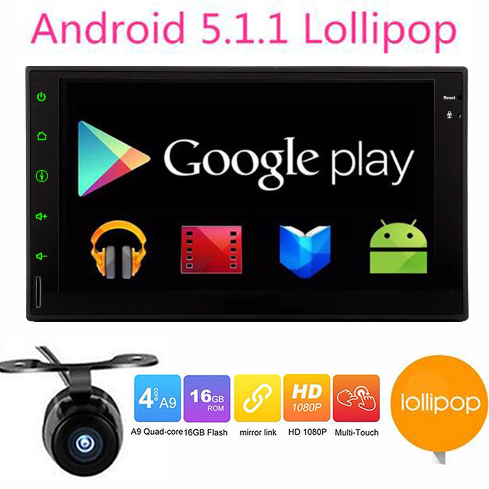double 2 din android 5 1 1 2din car autoradio android head unit gps navigation in dash car pc. Black Bedroom Furniture Sets. Home Design Ideas