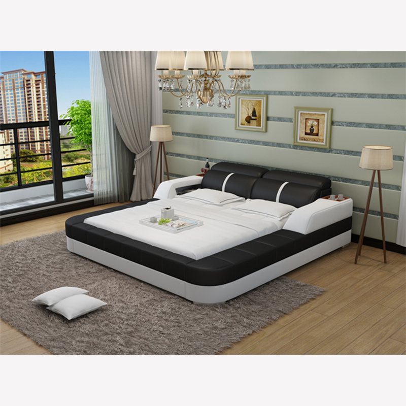 Lb8823 french elegant home furniture queen king size bed for Mobilia king size bed