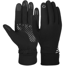 Vbiger Black Unisex Winter Gloves Anti-slip Sports Gloves Soft Touch Screen Gloves Cold Weather Windproof Texting Gloves