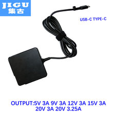 JIGU 65W 5V 9V 12V 15V 20V 3A 20V3.25A Adapter for acer/hp/huawei/lenovo/apple/xiaomi/sony USB-C type-c Device