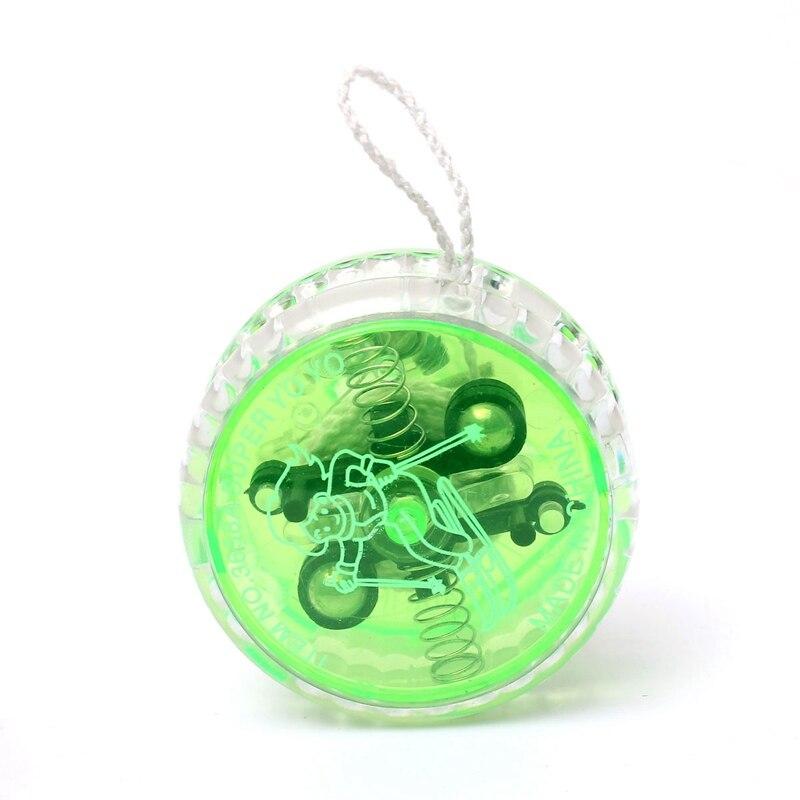 yoyo professional children toys string magic toy bearing mini LED Light Up kids yo yo-yo plastic green diabolo