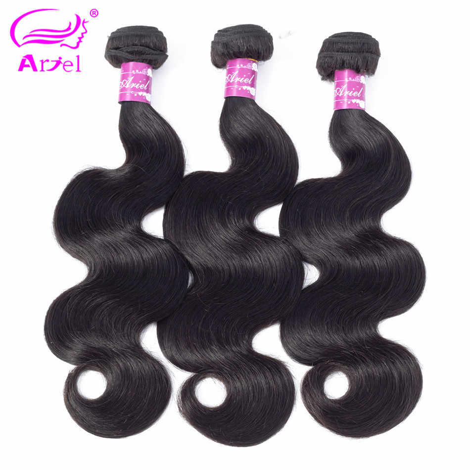 Body Wave Bundles Brazilian Hair Weave Bundles Non Remy 30 Inch Human Hair Bundles 3 4 Bundles 100% Human Hair Extensions Ariel