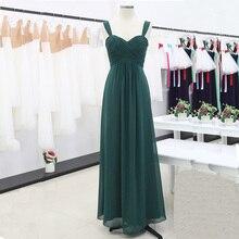 Robe de demoiselle dhonneur plissée élégante froncée, taille haute, longues robes de la cérémonie de mariage, 2020