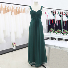 Women Pleated Bridesmaid Dresses Elegant Ruched High waisted Long Formal Wedding Party Dresses for 2020 Vestido Bridesmaid Dress