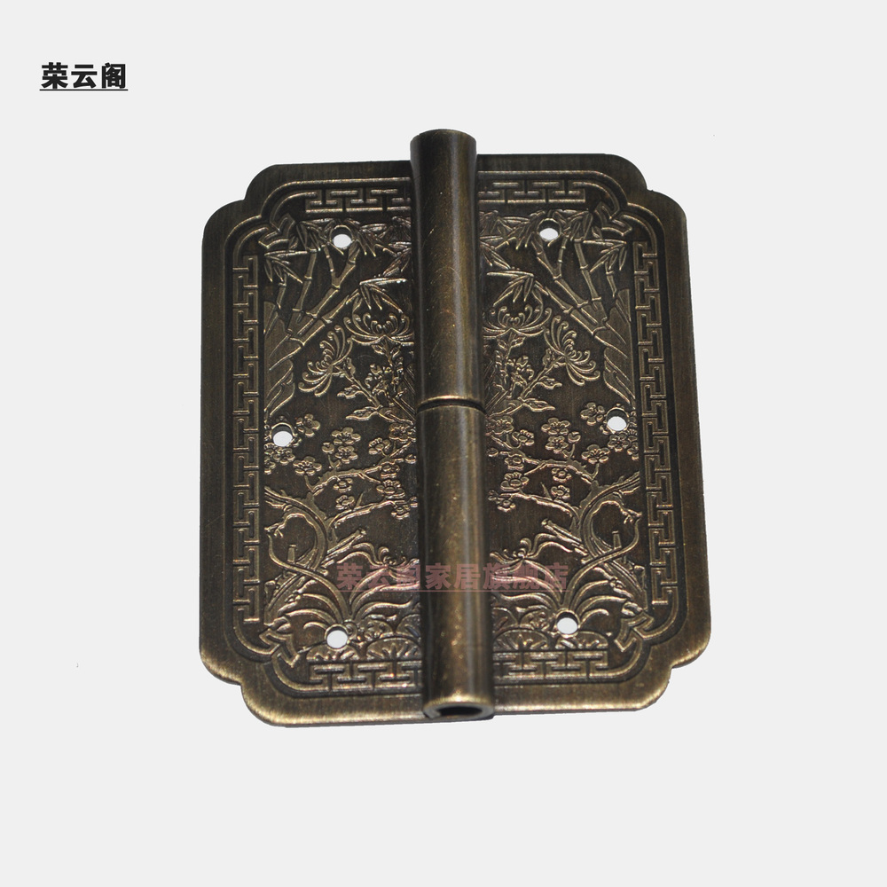 Chinese Furniture Copper Fittings Copper Antique Bookcase Door Hinge Hinge Carved Plum Chrysanthemum AF 316-in Door Hinges From Home Improvement On .. & Carving Door Hinges u0026 Love The Lion Head Door Knockers And The ... pezcame.com