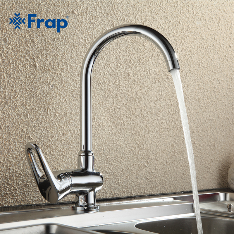 Frap Brass body Chrome Polished Classic kitchen faucet 360 degree rotation Mixer Water tap 3 choices