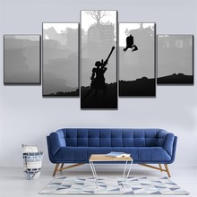 Home Decor Living Room 5 Piece 2B Back Black Shadow Painting Canvas HD Print Game NieR Automata Poster Wall Art Modular Picture home decor living room 5 piece 2b back black shadow painting canvas hd print game nier automata poster wall art modular picture
