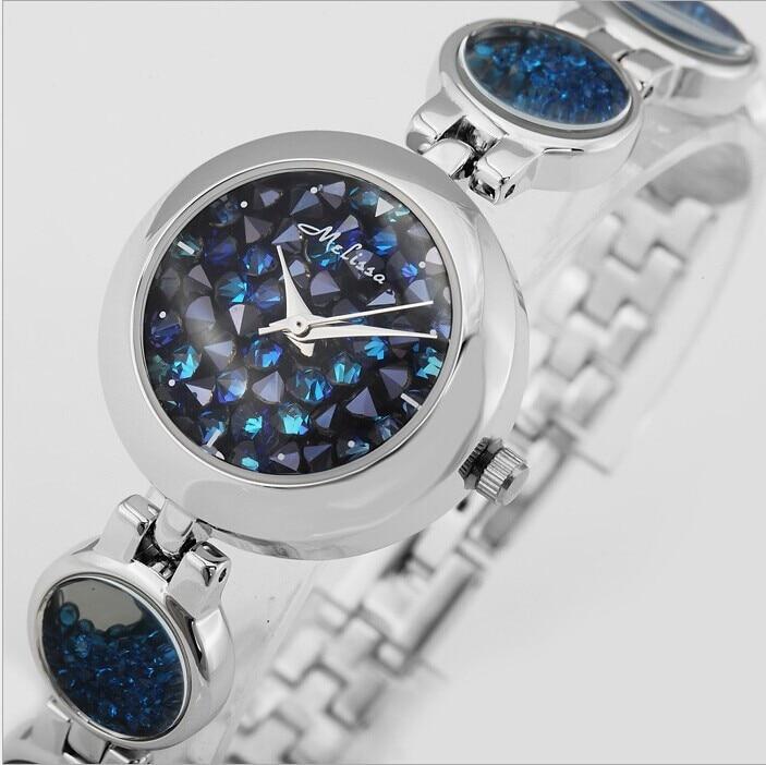 Vogue filles belle mouvement cristaux Bracelet montres MELISSA femmes robe Montre-Bracelet petite taille Quartz Reloj Montre Femme NW2187