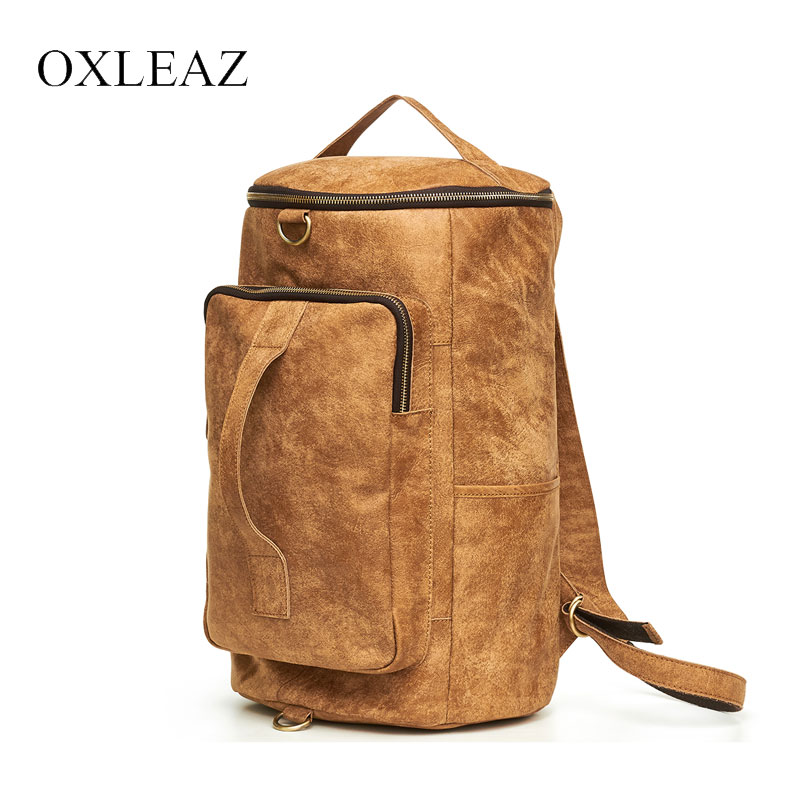 OXLEAZ Genuine Leather Vintage Backpacks Large Capacity Back Pack Men Laptop Backpack Bag Hand Bag Travel Male Rucksack for ManOXLEAZ Genuine Leather Vintage Backpacks Large Capacity Back Pack Men Laptop Backpack Bag Hand Bag Travel Male Rucksack for Man