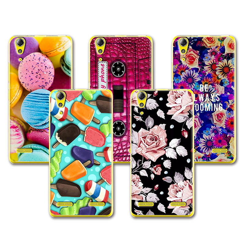 Lovely Fashion Coloured Painted Case For Lenovo A6010 A <font><b>6010</b></font> Case Cover Cute Art printed For Lenovo A6010+Free Pen Gift image