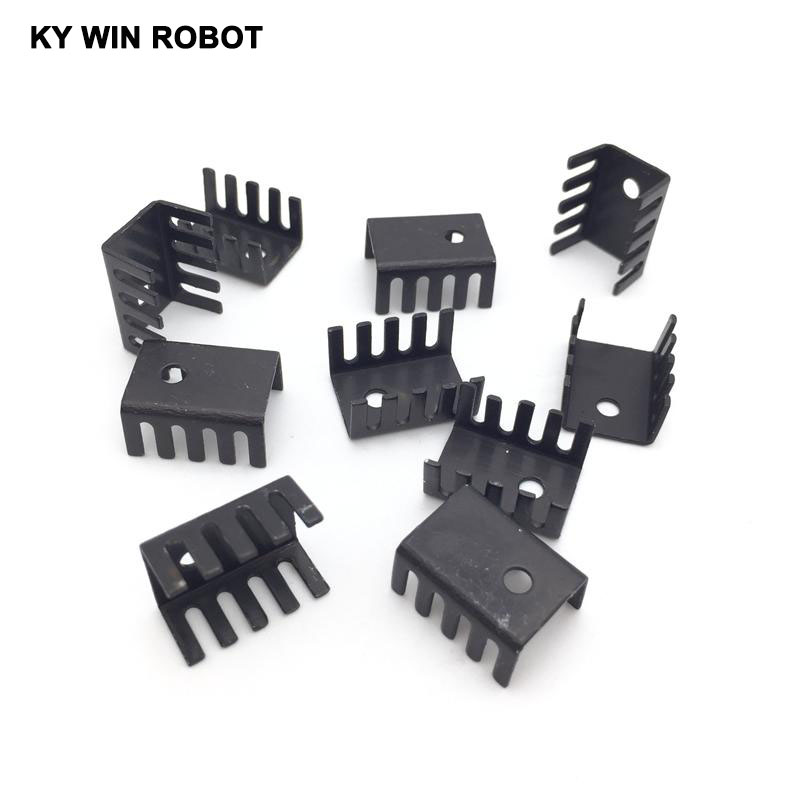 50PCS Black 15*10*20MM Triode Heat Sink 10*15*20MM TO-220 TO220 Transistor Aluminum Radiator Heat Sink Cooler Cooling 20*15*10MM