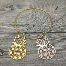 9d25239f7ab9 Moda nuevos brazaletes de piña bonitos brazaletes de coche de piña pulseras  joyería de planta de moda
