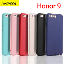 Case For Honor 9 Silicone Soft TPU Cover case for huawei Honor9 Crystal Clear Matte Candy solid colors Back shell