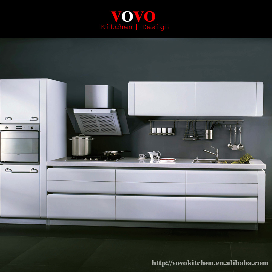 Beautiful Modular Flat Packing Kitchen Cabinet Design Round Top And Bottom Shape For 21mm Kitchen Door