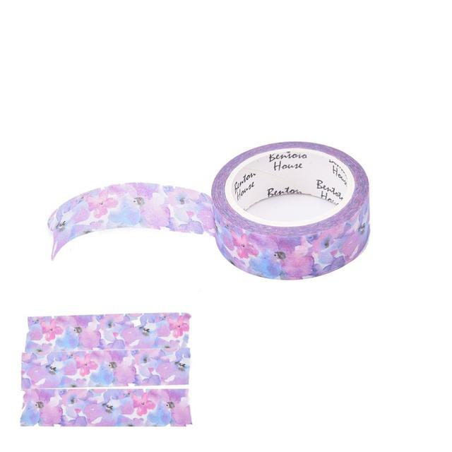 Purple Floral Washi Tape