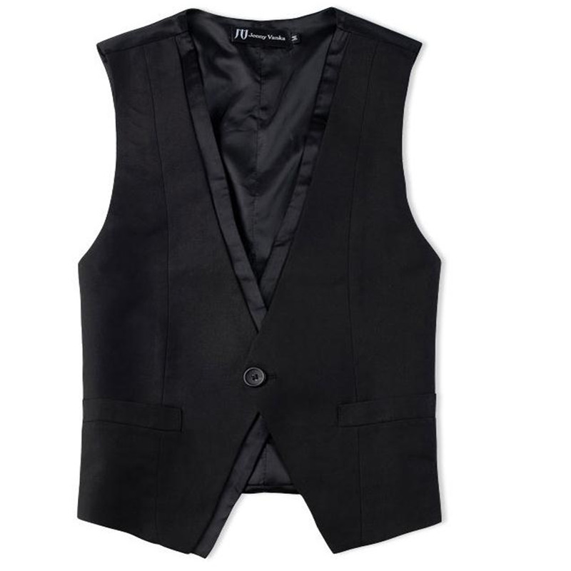 New Mens Clothing British Style Slim Masculino Cotton one button Sleeveless Jacket Waistcoat Men Suit Vest