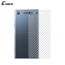Clear 3D Carbon Fiber Protective Back Film For Sony Xperia XA1 XZ XZ1 XZS XA X Compact Ultra Premium Plus Rear Screen Protector case for sony xperia l1 x xa ultra case wallet leather cover for sony xperia xz xr xz1 xz premium compact business style case
