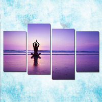 4 Pieces ZEN Stone Bamboo Buddhism Art Canvas Poster 24x36 Inch For Living Room 002
