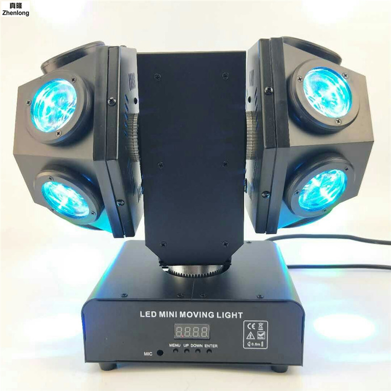 Highlight 4 In 1 Lamp Beads Laser Light 12 Bundles Strong Full Color Beam Stage Moving Head Lamp Apply To Bar KTV Birthday Party