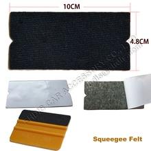 10Pcs Car Vinyl Film Wrap Felt for All 10cm Plastic Squeegee Edge Automobile Window Tint Tool Squeegee Fabric Felt Edge A02F