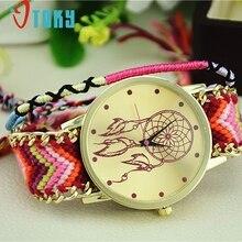 Творческий Relogio feminino Смотреть Новый Ловец снов браслет дружбы Часы Для женщин оплетка платье часы подарок Повседневные часы Для женщин