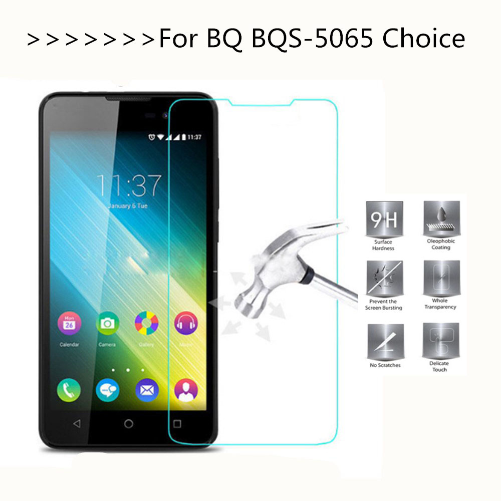 For BQ BQS-5065 Choice Tempered Glass Screen Protector Explosion-proof Slim Clear Protective Film For BQ 5065 Phone