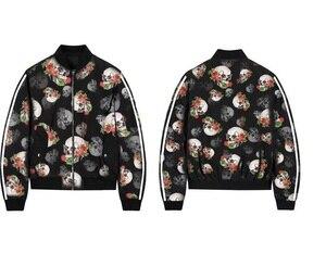 ZOGAA 2019 skulls print jacket men o-neck casacas para hombre extra size streetwear