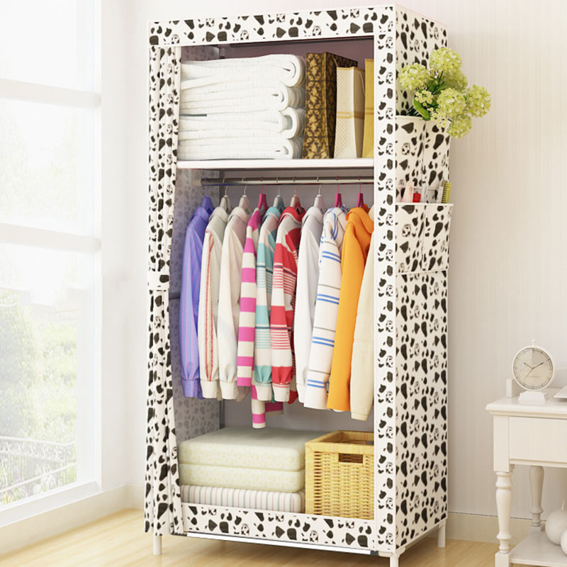 Cabinet:  Minimalist Cloth Wardrobe Student Dormitory Single Small Fabric Wardrobe Folding Clothing Storage Cabinet Home Furniture Closet - Martin's & Co