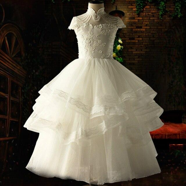 Posh Dream White Pearls Flower S Wedding Party Dress Vintage Children Princess
