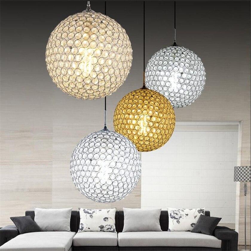 Pendant Lights Crystal ball LED Pendant Lamp for Dining Room Lustres Hanglamp Lighting Fixtures Colgantes Abajur Luminaires