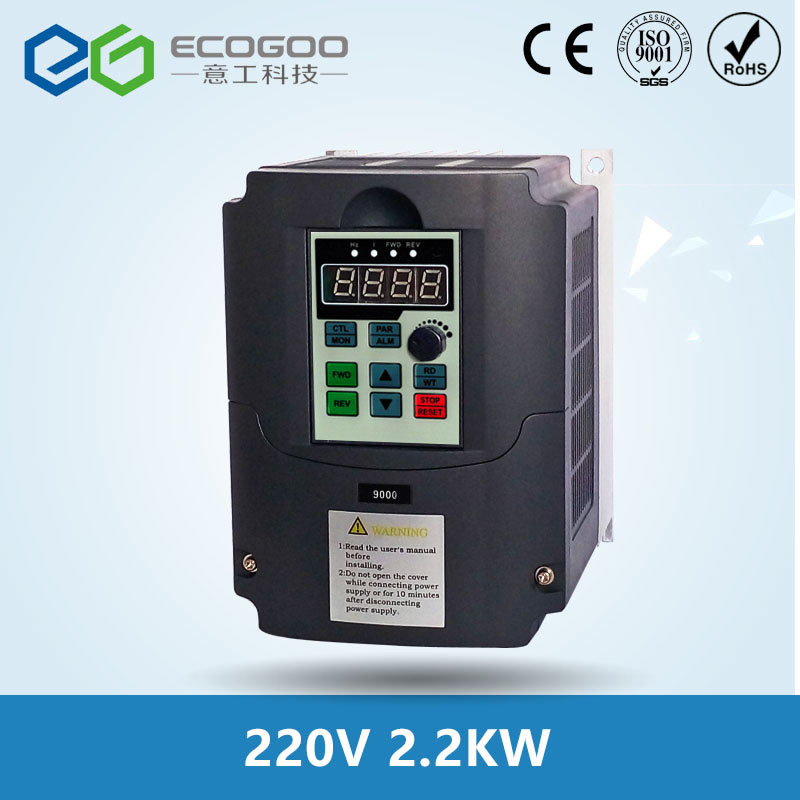 2 2kw 220v AC Frequency Inverter Converter Output 3 Phase 650HZ ac motor water pump controller
