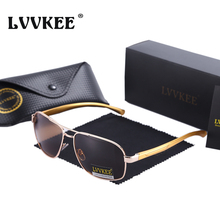LVVKEE Brand Aluminum Magnesium Alloy Frame Polarized Sunglasses Men's Driver Classic Outdoors Sports G15 fishing Sun glasses