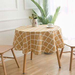 Image 2 - Nodic Print Round Tablecloth Dining Table Cover Obrus Tafelkleed Cotton Table Cloth Wedding Party Banquet Hotel Home Decoration