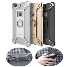 For Apple iPhone 7 4.7 inch /7 Plus 5.5 inch Bumper Case Nillkin Metal Frame Cover For iPhone 7 /7+ With Holder Grip Stand Ring