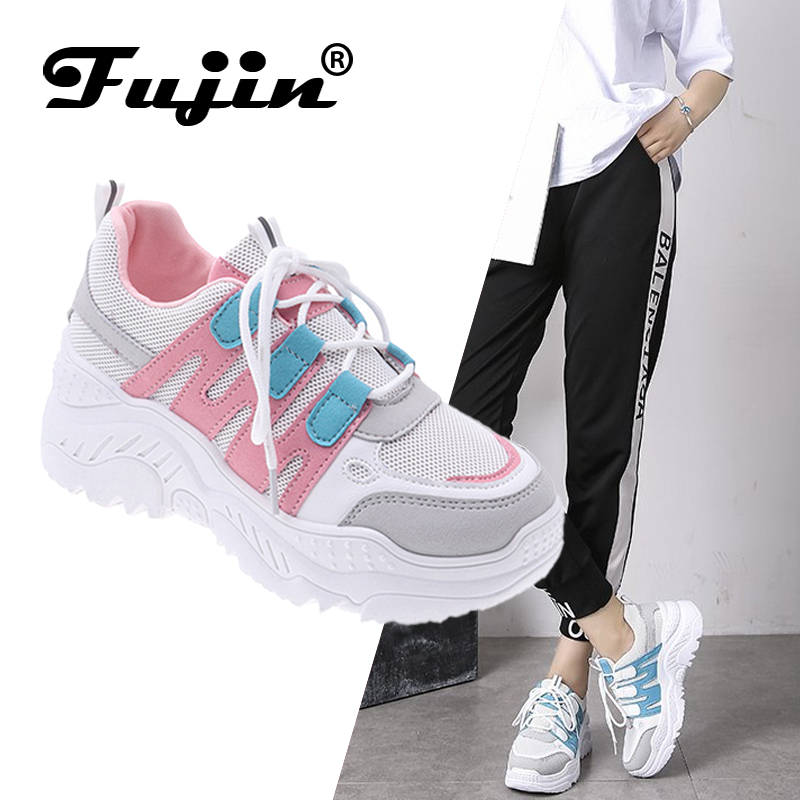 Fujin Women Chaussures Chunky Sneakers for Women Vulcanize Shoes Casual Fashion Dad Shoes Platform Sneaker Basket Femme Krasovki in Women 39 s Vulcanize Shoes from Shoes