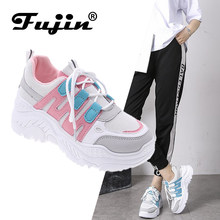 Fujin Women Chaussures Chunky Sneakers for Women Vulcanize Shoes Casual Fashion Dad Shoes Platform Sneaker Basket Femme Krasovki(China)