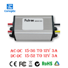 AC to DC 24V/36V/48V(8-52V) 12V Buck Converter Module for Cars 3A