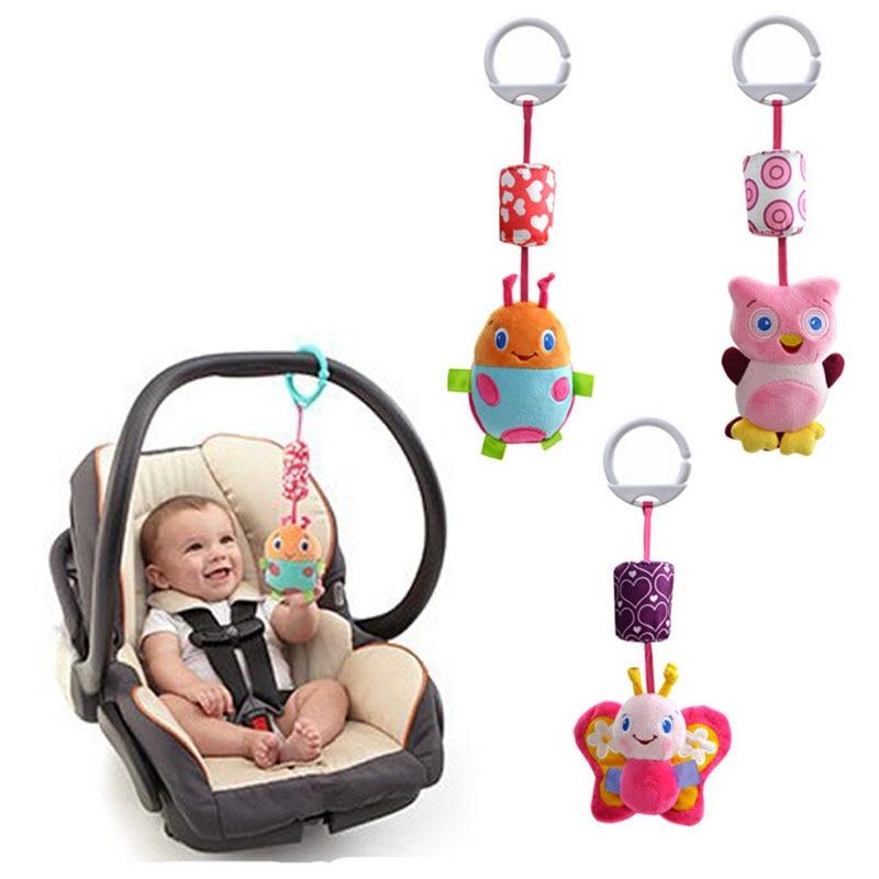 Partihandel - Hängande sängleksaker Barnsäng hängande leksak och ring klockan Barnvagns tillbehör 3 PCS / Lot (WJ241-WJ242)