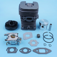 Cylinder Piston Carburetor Carb Gasket Kit For MCCULLOCH MAC CAT 335 338 435 438 440 444 Chainsaw 41.1mm Nikasil Plated
