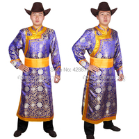Other Apparel Male Robed Mongolian Costume Dance Mongolian Clothes
