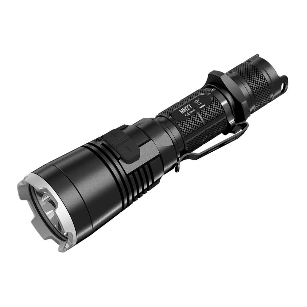 Nitecore MH27 1000LM 7 modes Multitask Tactical XP-L HI V3 led Flashlight lamp light 18650 torch without battery new nitecore 1000lm xp l hi led white light with rechargeable battery gear outdoor search r40 flashlight hand lamp free shipping