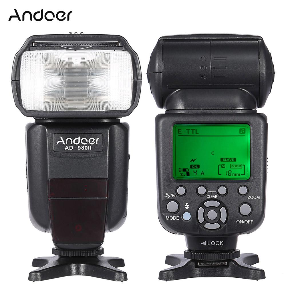 Prix pour Andoer AD-980II E-TTL HSS 1/8000 s Maître Esclave GN58 Flash Speedlite pour Canon 5D Mark III/5D Mark II/6D/5D/7D/60D DSLR Caméra