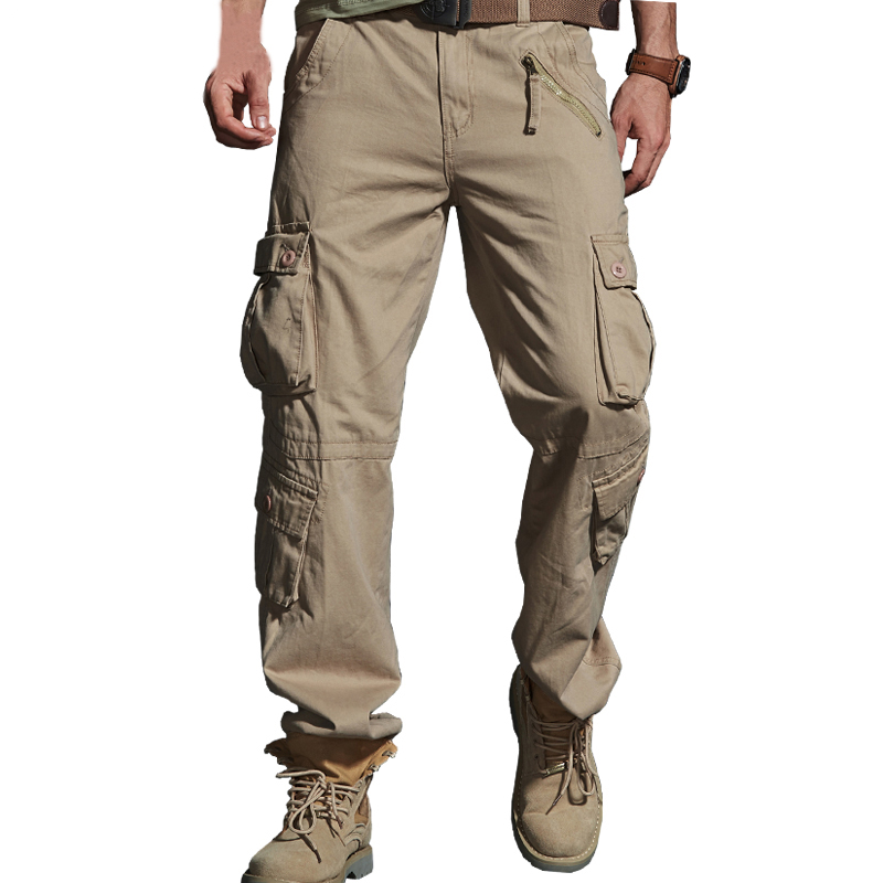 2019 Spring Hot Tactical Mens Cargo Pants Cotton Casual Multi-Pocket Military Men Pants Pantalon Homme ABZ217